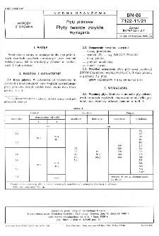 Płyty pilśniowe - Płyty twarde zwykłe - Wymagania BN-86/7122-11/21