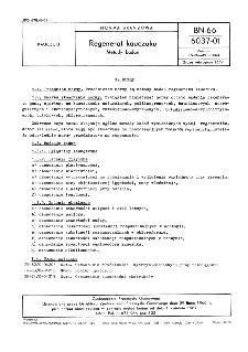 Regenerat kauczuku - Metody badań BN-66/6037-01