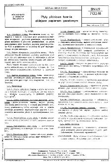 Płyty pilśniowe twarde oklejane papierem gazetowym BN-69/7122-18