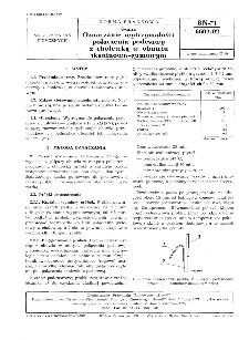 Guma - Oznaczanie wytrzymałości połączenia podeszwy z cholewką w obuwiu tkaninowo-gumowym BN-71/6602-02