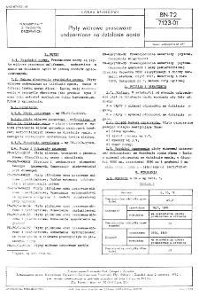 Płyty wiórowe prasowane uodpornione na działania ognia BN-72/7123-01