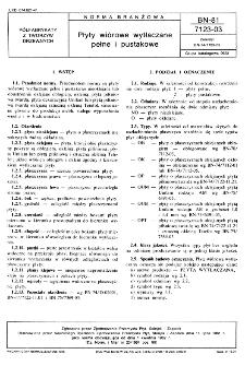 Płyty wiórowe wytłaczane pełne i pustakowe BN-81/7123-03