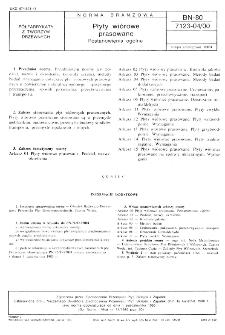 Płyty wiórowe prasowane - Postanowienia ogólne BN-80/7123-04/00