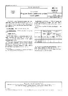 Płyty gumowe - Program badań, pobieranie próbek i ocena partii BN-73/6616-14 Arkusz 05