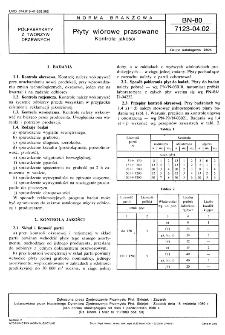 Płyty wiórowe prasowane - Kontrola jakości BN-80/7123-04.02