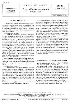 Płyty wiórowe prasowane - Metody badań BN-80/7123-04.03