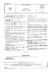 """Płyty gumowe - Metody badań BN-73/6616-14 Arkusz 06 / \c Zjednoczenie Przemysłu Gumowego """"Stomil"""""""
