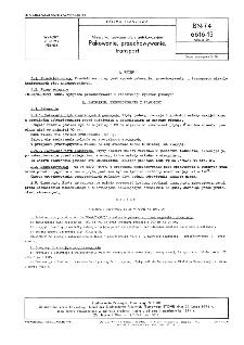 Niewulkanizowane płyty antykorozyjne - Pakowanie, przechowywanie, transport BN-74/6616-15 Arkusz 04