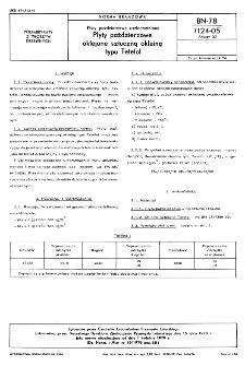 Płyty paździerzowe uszlachetnione - Płyty paździerzowe oklejone sztuczną okleiną typu Tetefol BN-78/7124-05 Arkusz 02