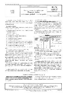 Niewulkanizowane płyty antykorozyjne - Program badań, pobieranie próbek i ocena partii BN-74/6616-15 Arkusz 05