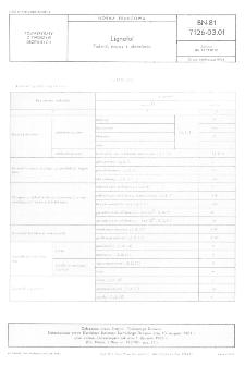 Lignofol - Podział, nazwy i okreslenia BN-81/7126-03.01