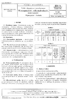 Meble skrzyniowe mieszkaniowe - Wytrzymałość, odkształcalność, stateczność - Wymagania i badania BN-73/7103-01