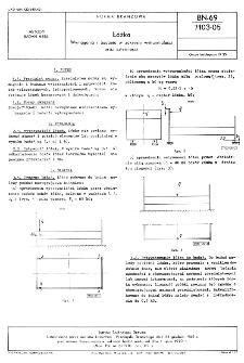 Łóżka - Wymagania i badania w zakresie wytrzymałości oraz sztywności BN-69/7103-05