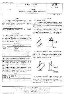 Krzesła - Wymagania i badania w zakresie wytrzymałości oraz odkształcalności BN-70/7103-07