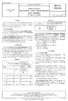 Meble tapicerowane - Sprężystość części tapicerowanych przy ściskaniu - Wymagania i badania BN-73/7103-09