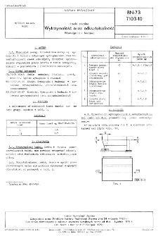 Ławki szkolne - Wytrzymałość oraz odkształcalność - Wymagania i badania BN-73/7103-10