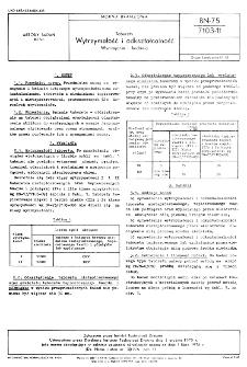 Taborety - Wytrzymałość i odkształcalność - Wymagania i badania BN-75/7103-11
