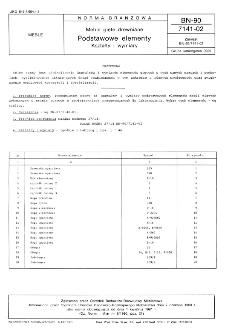 Meble gięte drewniane - Podstawowe elementy - Kształty i wymiary BN-90/7141-02