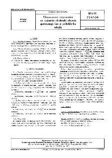 Oznaczanie odporności na zginanie cholewki obuwia gumowego lub z polichlorku winylu BN-71/7747-04