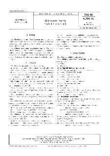 Górnicze lonty - Podział i oznaczenie BN-90/6094-40