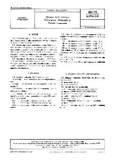 Górnicze środki strzałowe - Górnicze detonatory - Podział i oznaczenie BN-79/6096-04