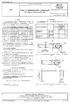 Luzy w połączeniach ruchowych - Sprawdziany szczelinowe do mebli BN-71/7142-01