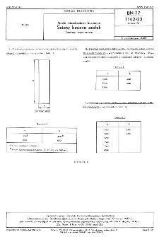 Meble mieszkaniowe kuchenne - Ściany boczne szafek - Szeregi wymiarowe BN-77/7142-02 Arkusz 01