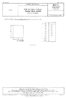 Meble mieszkaniowe kuchenne - Ściany tylne szafek - Szeregi wymiarowe BN-77/7142-02 Arkusz 02