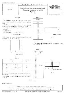 Meble mieszkaniowe do przechowywania - Elementy meblowe ze szkła - Wymiary BN-80/7142-03.06