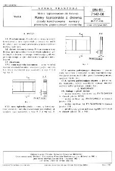 Meble tapicerowane do leżenia - Ramy tapicerskie z drewna - Zasady konstruowania i wymiary przekrojów poprzecznych elementów BN-81/7142-06