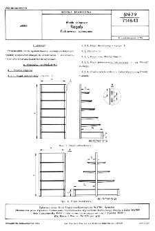 Meble sklepowe - Regały - Podstawowe wymagania BN-79/7146-13