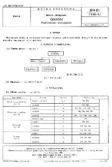 Meble sklepowe - Gabloty - Podstawowe wymagania BN-81/7146-17