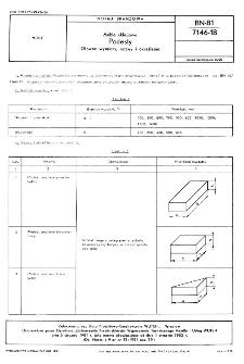 Meble sklepowe - Podesty - Główne wymagania, nazwy i określenia BN-81/7146-18