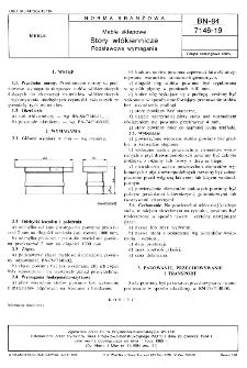 Meble sklepowe - Stoły włókennicze - Podstawowe wymagania BN-84/7146-19