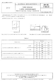 Meble sklepowe - Lustra wolnostojace - Główne wymiary, nazwy i określenia BN-85/7146-22