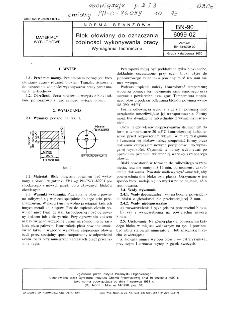 Blok ołowiany do oznaczania zdolności wykonywania pracy - Wymagania techniczne BN-90/6099-02