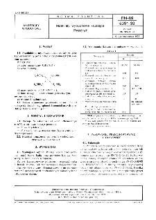 Materiały wybuchowe kruszące - Pentryt BN-89/6091-33