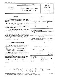Materiały wybuchowe górnicze - Metanity powietrzne BN-74/6091-35