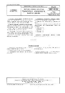 Górnicze materiały wybuchowe - Systematyka laboratoryjnej kontroli jakości BN-91/6091-45/04