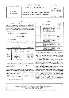 Górnicze materiały wybuchowe - Pakowanie, przechowywanie i transport BN-90/6091-45/06