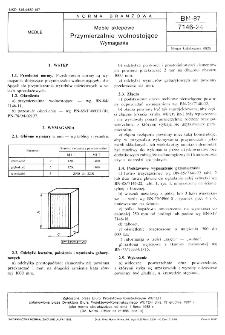 Meble sklepowe - Przymierzalnie wolnostojące - Wymagania BN-87/7146-24