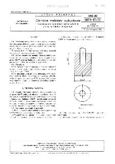 Górnicze materiały wybuchowe - Oznaczanie zdolności wykonywania pracy w bloku ołowianym BN-90/6091-45/22