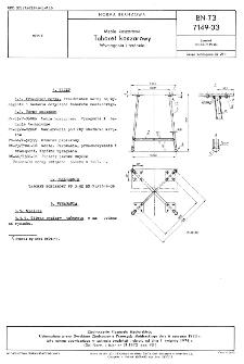Meble koszarowe - Taboret koszarowy - Wymagania i badania BN-73/7149-03