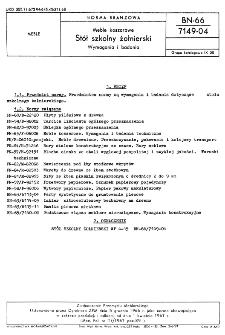 Meble koszarowe - Stół szkolny żołnierski - Wymagania i badania BN-66/7149-04