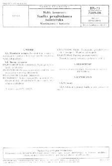 Meble koszarowe - Szafka przyłóżkowa żołnierska - Wymagania i badania BN-73/7149-08