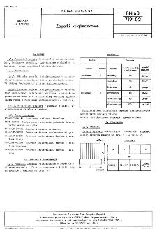 Zapałki eksportowe zykłe-bezpieczne BN-85/7191-01