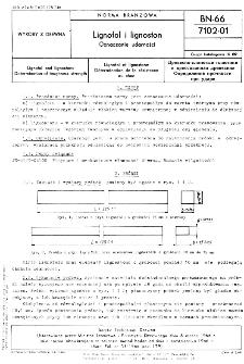 Lignofol i lignoston - Oznaczanie udarności BN-66/7102-01