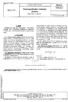 Drewnopochodne materiały płytowe - Oznaczanie wilgotności BN-69/7102-02