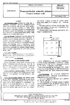 Drewnopochodne materiały płytowe - Oznaczanie stabilności kształtu BN-69/7102-04