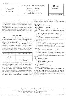Zrębki z drewna - Oznaczanie zawartości piasku BN-82/7102-13